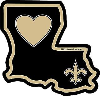 Heart in Louisiana Black and Gold Sticker   Die-Cut LA Shaped Vinyl Decal   Label for Water Bottle Laptop Saints Fan Laptop Bumper Waterproof Show Love New Orleans Big Easy Bourbon