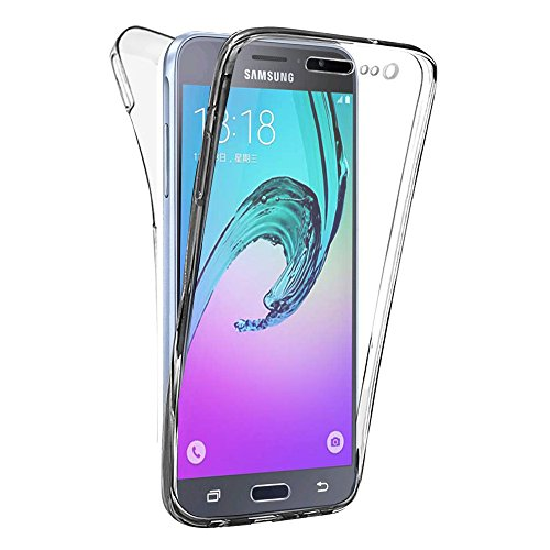 HCN PHONE Samsung Galaxy J3 (2016) Cover in silicone Gel Ultra Sottile 360° protezione integrale anteriore e posteriore per Samsung Galaxy J3 (2016)