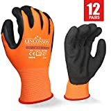 LINCONSON Safety Performance Series Construction Mechanics Work Gloves