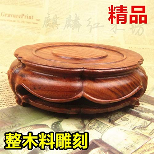 Buy ZAMTAC Shipping Kylin Rosewood Crafts teapot Boutique Jade Stone Head Round The Whole Wood Base ...