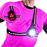 AVANTO Classic Chest Night Running Lights for Runners and Joggers, Running Vest Light, Lighted Led Vests for Walkers, Reflector Gear, Vest Gear, Safety Light, Alternative for Headlamp Flashlights