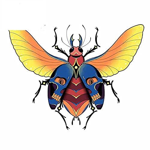 A/X 13cmx10,4cm para Skull Beetle Anime Pegatinas de Coche Personalidad Anime calcomanía para Maletero Parabrisas