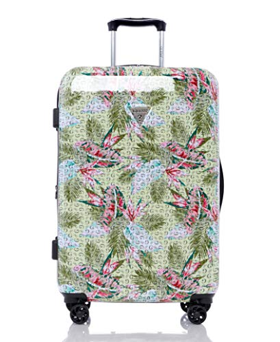Guess Depree Collection 24' 8-Wheeled Spinner, Green Print, One Size