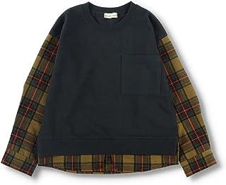 [ブランシェス] チェック 重ね着風 ポケット付き 長袖 Tシャツ 男の子 キッズ ボーイズ ロンT