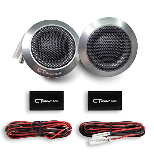 CT SOUNDS 1 Inch Silk Dome Tweeters– 4 Ohm Impedance, 100W Maximum Power Capacity, Flush Mount Ring, Voice Coil Suspended in Ferro Fluid - Meso 25mm Tweeters