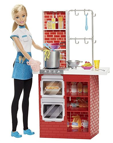 Barbie DMC36 Spagetti Chef Doll Playset