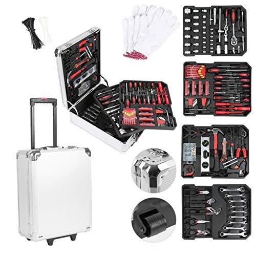 cassetta attrezzi acciaio Valigia degli attrezzi composta da 1150 pezzi | cassetta degli attrezzi | portaattrezzi | set di arnesi | trolley degli attrezzi | acciaio cromo-vanadio