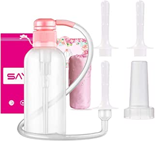 Douche for Women, Vaginal Cleansing System, Reusable Vaginal Douche, 600ml Capacity with 3 Nozzles,100% Safe Non-Toxic
