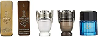 Paco Rabanne for Men 5 Piece Mini Gift Set (1 Million 5ml/1 Million Lucky 5ml/Invictus 5ml/Inv Aqua 5ml/Pure Xs 5ml)
