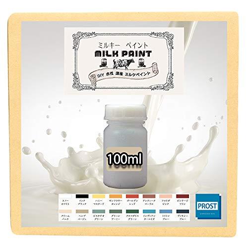 森永乳業のミルク原料を使用!水性 ターナー ミルクペイント ハニー マスタード 100ml 小分け/塗料 水性塗料 ペンキ DIY 安全 艶消し