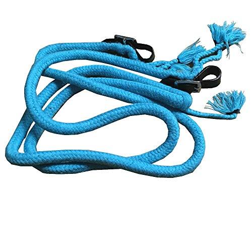 netproshop Pferde Zügel Rund und Geschlossen Baumwolle (2,5 Meter) Himmelblau, Auswahl:Himmelblau