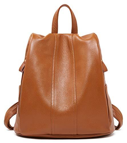 Echtleder-Rucksack für Frauen, Anti-Diebstahl-Rucksack, Damen-Reisetasche.