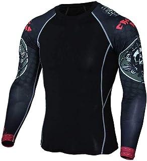 Mens Dri Fit Black Compression Top Long Sleeve Mens Yoga Shirt