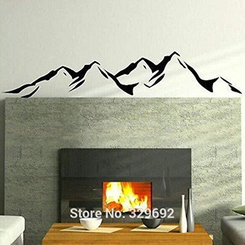 Vinilos decorativosMontañas Vinilo extraíble Art Wall Sticker Wallpaper Decoración para el hogar 35X185Cm