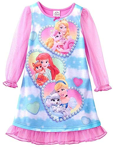 Disney Princess Palace Pets Heart Nightgown, Toddler Size 4T Pink