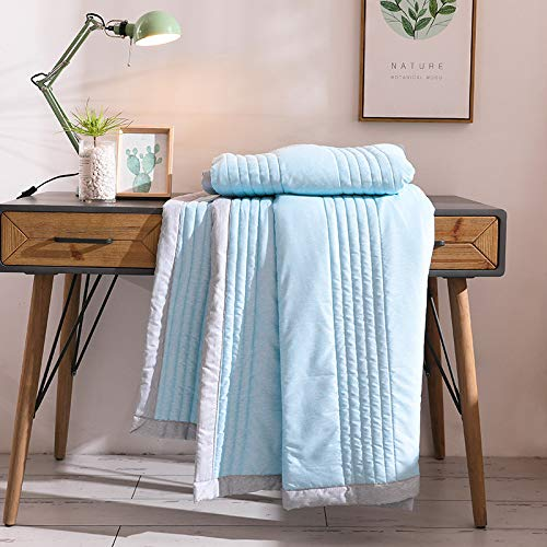ZHKGANG Summer Duvet Children's Summer Cool Is Double Summer Thin Quilt Single Student Autumn And Summer Thin Section Quilt For Family Hotel,SuJing-Lan-150 * 200cm