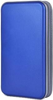 Disc CD Case, 80pcs Capacity Hard Plastic CD Holder Protective DVD Disc Storage Case Holder Portable Zipper CD DVD Organiz...