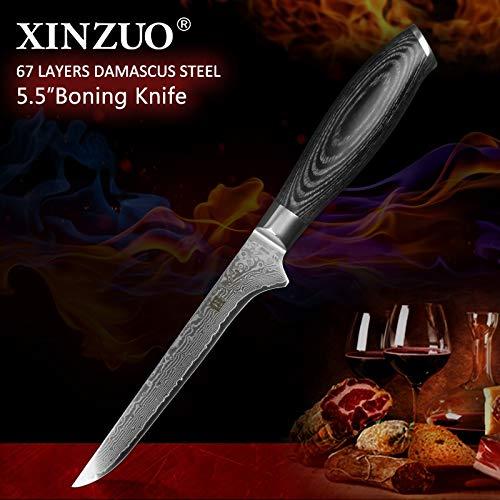 Best Quality Kitchen Knives 5.5 inch Bone Filleting Knives 67 layer Damascus Steel Kitchen Knives Damascus VG 10 Japanese Fish Knife Kitchen Chef Tools