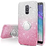Galaxy J8 2018 Case,Silverback Girls Bling Glitter Sparkle Cute...