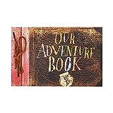 T-HAOHUA Anniversary Photo Album Scrapbook - Our Adventure Book Wedding Photo Album Scrapping 11.6'x7.5' inches, 80 Pages - Includes Bonus 5 Postcards and 5 Self-Adhesive Photo Corners
