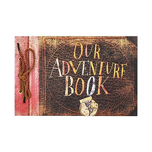 T-HAOHUA Anniversary Photo Album Scrapbook - Our Adventure Book Wedding Photo Album Scrapping...