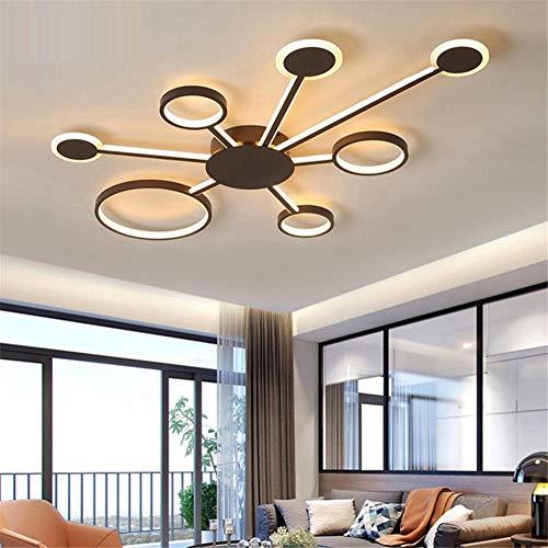 LED plafondlamp woonkamer plafondlamp plafondlamp tak van ijzer acryl LED 7 plafondlamp woonkamer lamp slaapkamer decoratie Type B 120 * 82 * 6CM-88W Warm licht