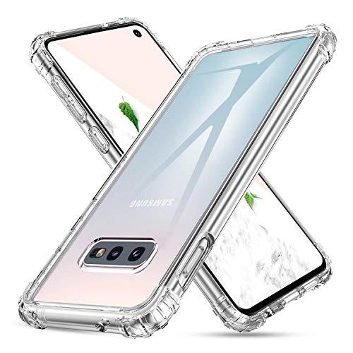 DUEDUE Samsung Galaxy S10e Hülle Silikon [Stoßdämpfend, Nicht vergilbend] Samsung S10e Handyhülle Case Handy Cover Schutzhülle für Samsung Galaxy S10e Transparent