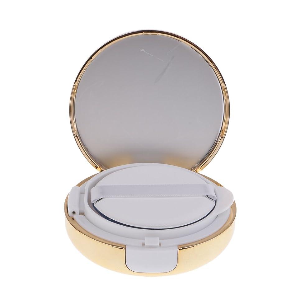 非互換ユダヤ人ローラーKesoto メイクアップ 空パウダーコンテナ ファンデーションケース エアクッション パフ BBクリーム 詰替え 化粧品 DIY プラスチック製 2色選べる - ゴールド