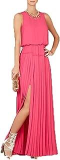 BCBG Maxazria Jenine High Split Pleated Skirt Maxi Dress