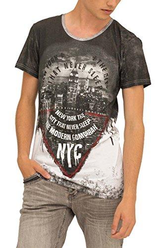 trueprodigy Casual Hombre Marca Camiseta Estampado Ropa Retro Vintage Rock Vestir Moda Cuello Redondo Manga Corta Slim fit Designer Cool Urban Fashion t-Shirt Color Negro 1073162-2999-XL