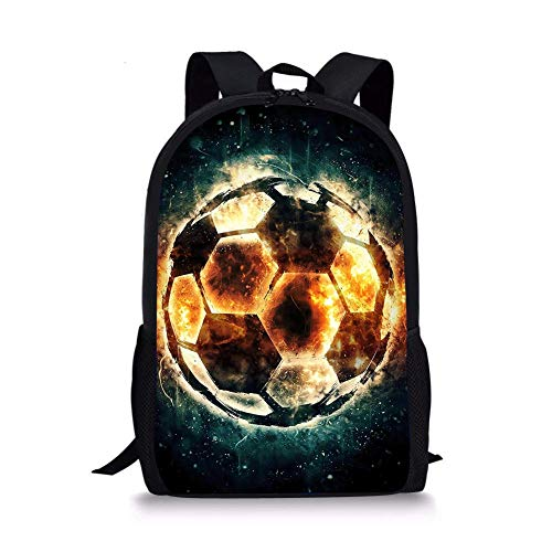 Sport Soccer Football Printed Mens Daypack 3D Schoolbags for Boys