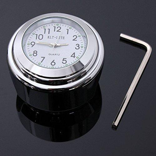 Generic 7/20,3cm 2,5cm Universal Motorrad Lenkerhalterung Zifferblatt Uhr Wasserdicht-Gürtel mit verchromter < 1& 2618* 1>