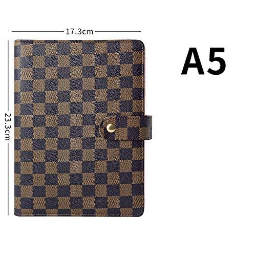 A5 Planer Hochwertige Lederhülle A5 Notebook Loseblattgitter Notebook & Journal Schedule Book Notebook Ledertasche Binder