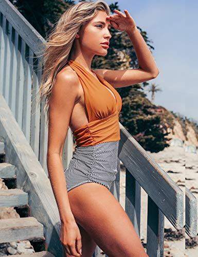 CUPSHE-Womens-Halter-One-Piece-Swimsuit-Keeping-You-Accompained-Swimwear