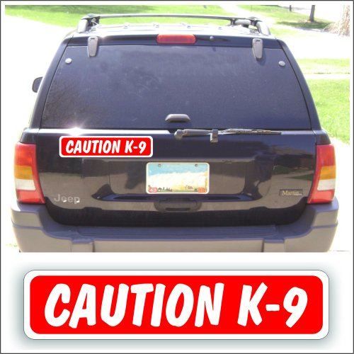 Solar Graphics USA Magnet Magnetic Sign Caution K-9 for Car Or Truck with Pets, Show Or Guard Dogs - 3 x 14 inch, Be Sure Surface is Steel
