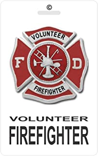 Volunteer Firefighter ID Tag PVC Plastic Identification VFF Badge - C 27 White