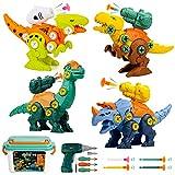 OMEW Juguetes de Dinosaurios Desmontables para niños con lanzadores, un Conjunto de Regalos de Juguetes educativos de construcción para niños niñas