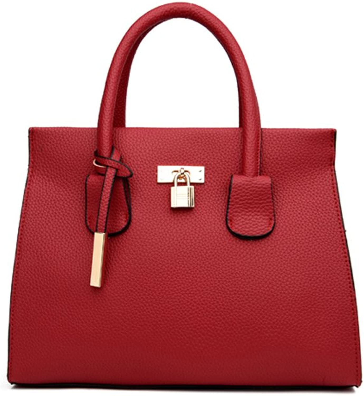 BalaMasa Womens Simple Grace Patent Leather Top Handle Handbag