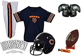 Franklin NFL Chicago Bears Youth Licensed Deluxe 9-pc Uniform Set, Small
