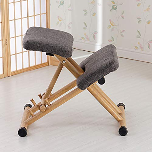 Strijkijzer, ergonomische kniestoel voor het aanpassen van de draaisnelheid, metalen frame, gevoerde zitting, corrigerende stoel