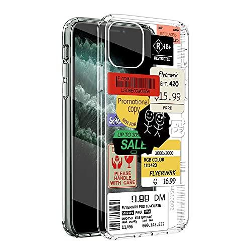 Yoedge Custodia Compatibile con iPhone 13 Pro MAX -6,7 pollici Morbida Trasparente Silicone TPU Paraurti Case Sottile HD Antiurto Anti-Graffio Backcover Motivo per iphone 13proMax, Adesivi