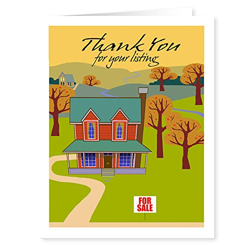 Real Estate Thank You Note Card - 18 Note Cards and Envelopes