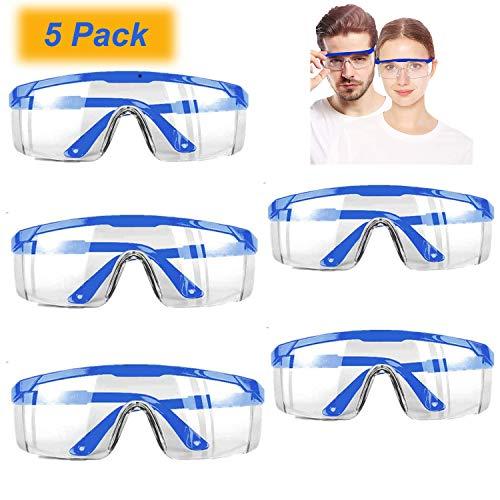 Paquete de 5 gafas de seguridad transparentes, equipo de protección personal estándar