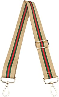 Adjustable Handbag Strap Replacement Guitar Style Canvas 57 Inches Crossbody Strap for Shoulder Bag