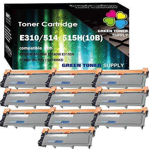 (10 x Black) Compatible E310 E515 593-BBKD Toner Cartridge for use in (PVTHG) Dell E310dw E514dw E515dw E515dn Printer