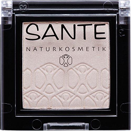 SANTE Naturkosmetik Mono Shade Lidschatten 03 Holografic Stardust, Braun, Eyeshadow, Schimmernde Farbnuance, Vegan, Bio-Extrakte, 2g