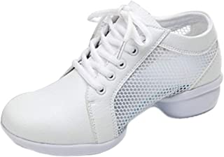 Aiweijia Summer Breathable Women's Mesh dancing shoes Lace-up shoes Latin Jazz game casual shoes