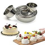 Tihokile Edelstahl Mousse Runde Schneidform, verwendet, um Kuchen, Pralinen, Kekse, Fudge, Muffins, Mousse kreisförmige Kuchenschneider zu Machen 12 Stück