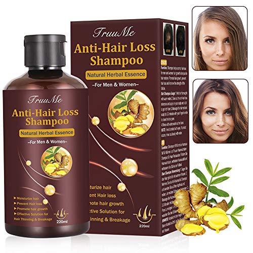 Haarwachstums Shampoo, Anti-Haarverlust Shampoo, Effektiv gegen Haarausfall, Stärkend, Regenerierend, Wachstumsfördernd, Behandlung für Haar, Wachstum für Damen & Herren 220 ml