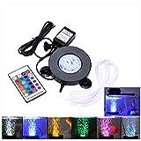 Petyoung - Difusor de luz LED para Acuario, 16 Colores, con Mando a Distancia